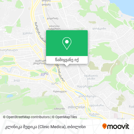 კლინიკა მედიკა (Clinic Medica) რუკა