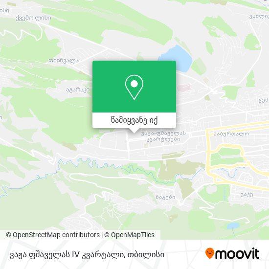 ვაჟა ფშაველას Iv კვარტალი (Vaja Pshavela Block Iv) რუკა
