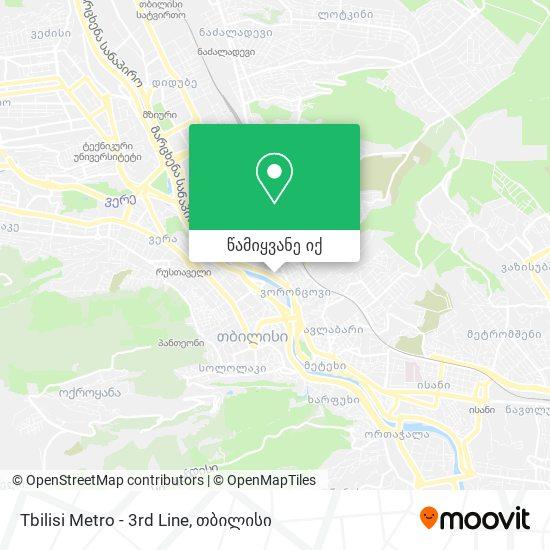 Tbilisi Metro - 3rd Line რუკა