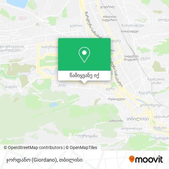 ჯორდანო (Giordano) რუკა