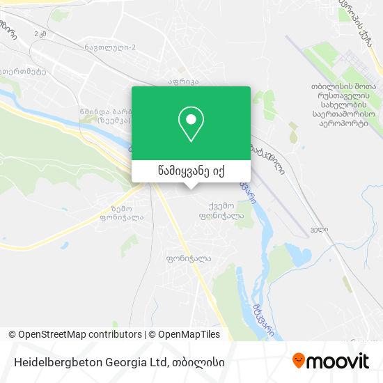 Heidelbergbeton Georgia Ltd რუკა