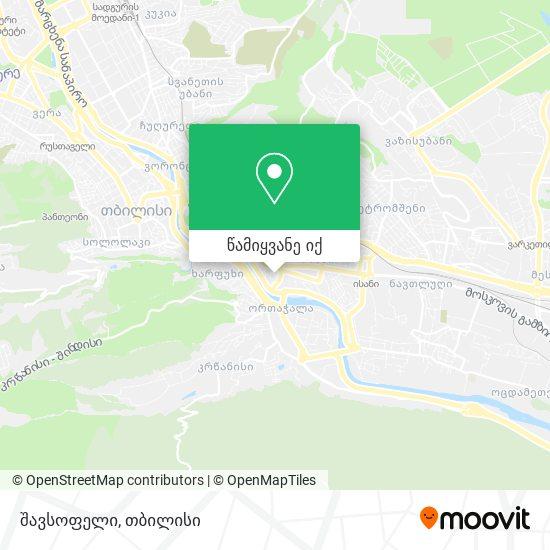 შავსოფელი რუკა