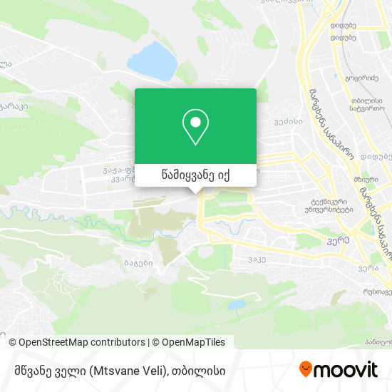 მწვანე ველი (Mtsvane Veli) რუკა