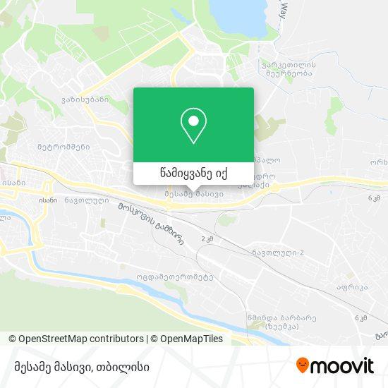 მესამე მასივი რუკა