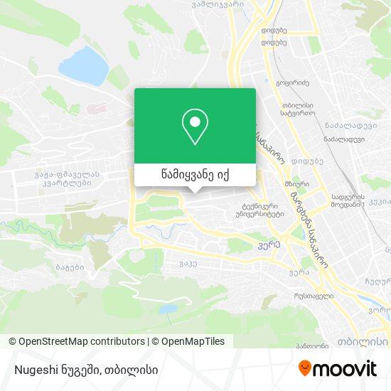 Nugeshi ნუგეში რუკა