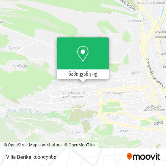 Villa Berika რუკა