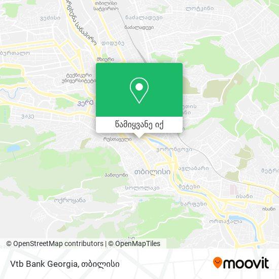 Vtb Bank Georgia რუკა