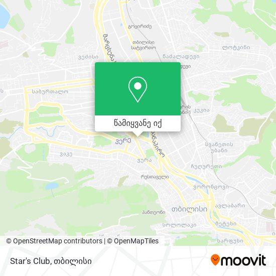 Star's Club რუკა