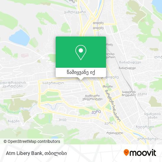 Atm Libery Bank რუკა