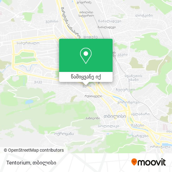 Tentorium რუკა