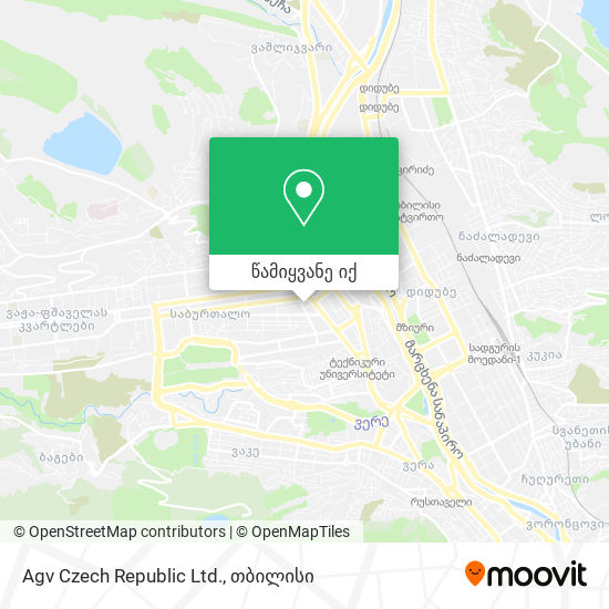 Agv Czech Republic Ltd. რუკა