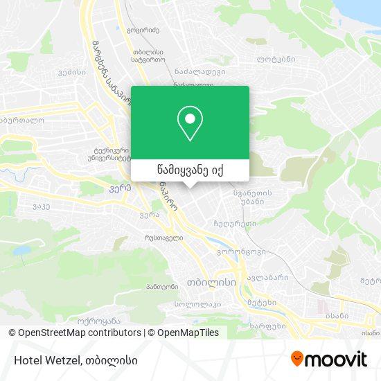 Hotel Wetzel რუკა