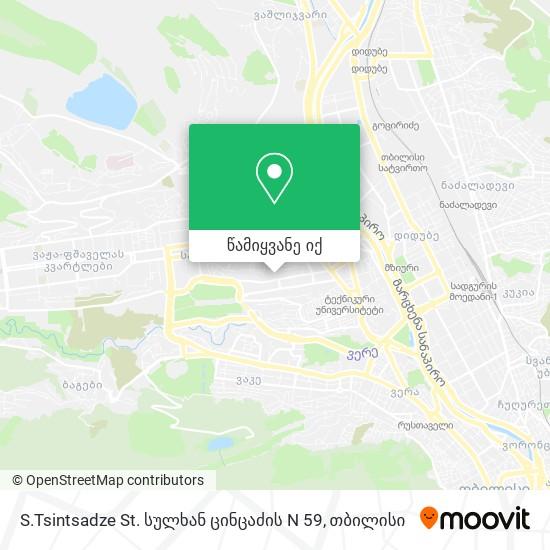 S.Tsintsadze St. სულხან ცინცაძის N 59 რუკა