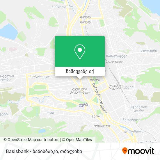 Basisbank - ბაზისბანკი რუკა