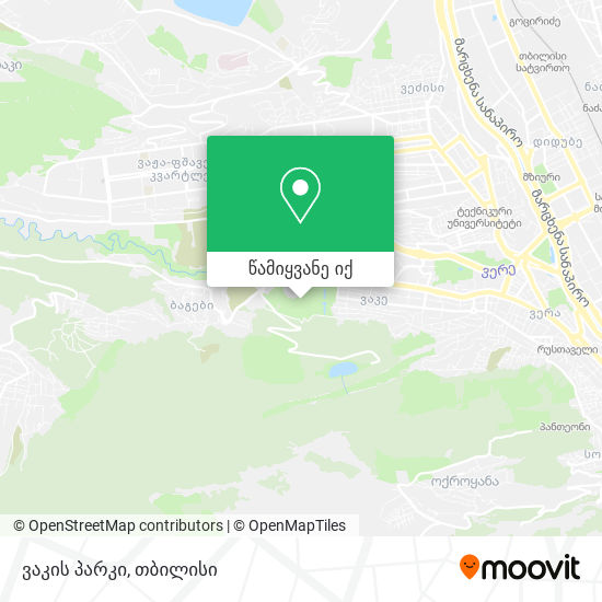 ვაკის პარკი რუკა