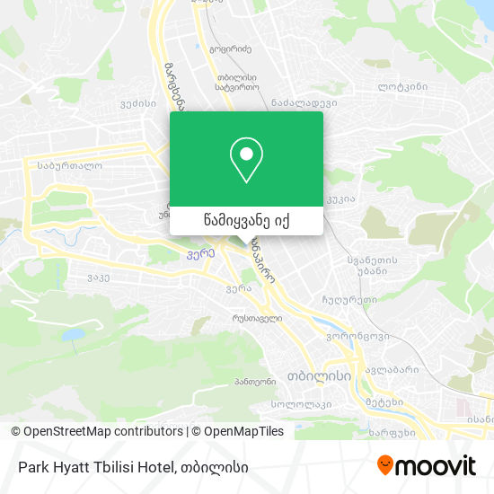 Park Hyatt Tbilisi Hotel რუკა