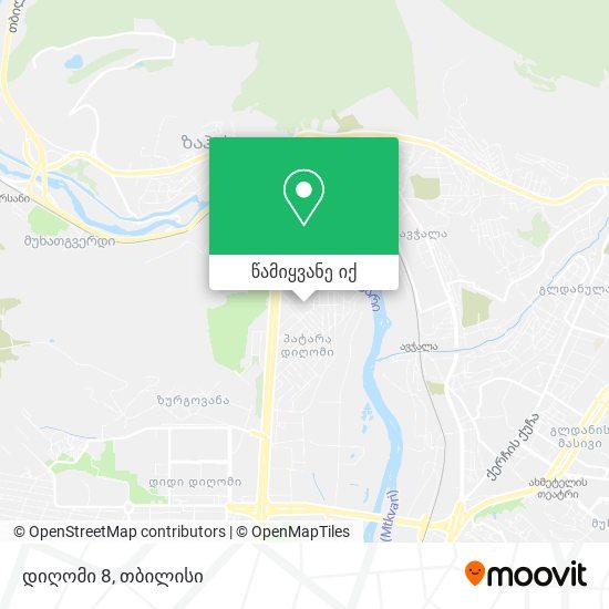 დიღომი 8 რუკა