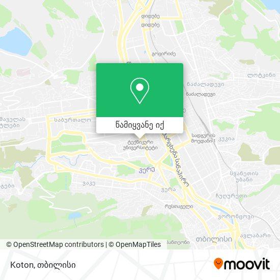 Debenhams რუკა