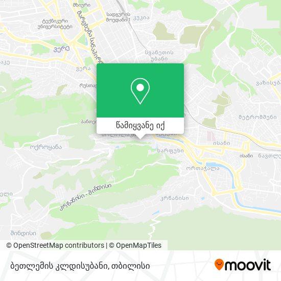 ბეთლემის კლდისუბანი რუკა