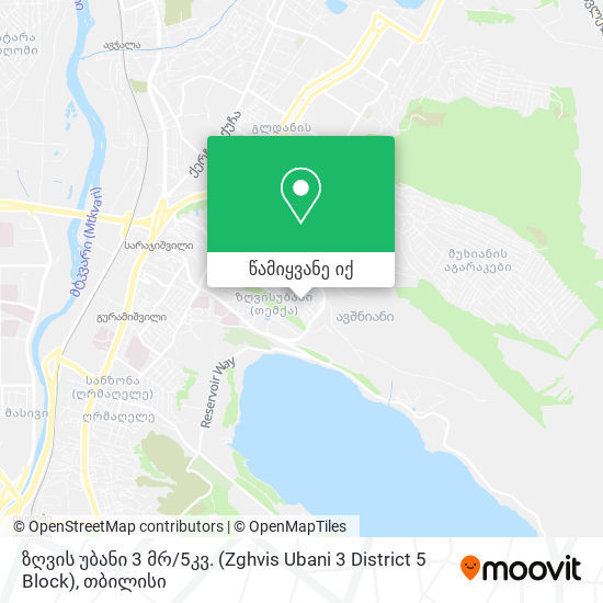 ზღვის უბანი 3 მრ / 5კვ. (Zghvis Ubani 3 District 5 Block) რუკა