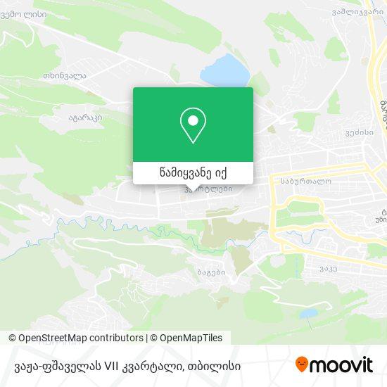 ვაჟა ფშაველას Vii კვარტალი (Vaja Pshavela Block Vii) რუკა