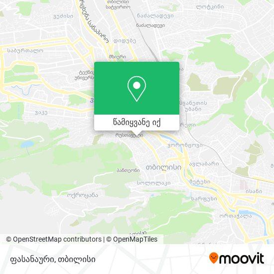 Pasanauri რუკა