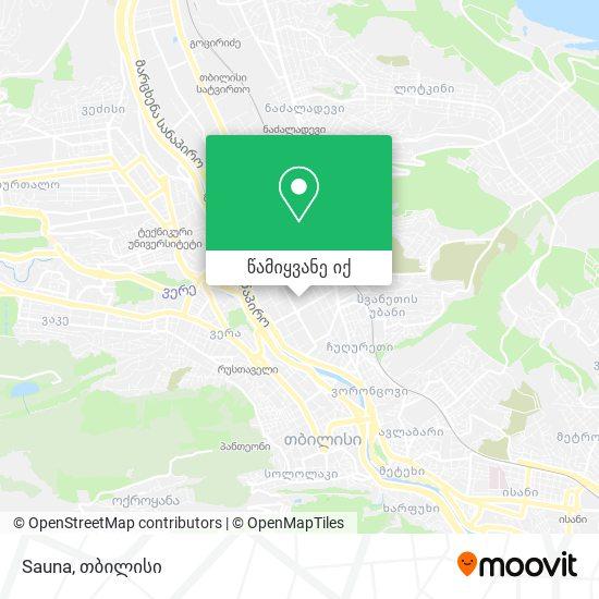 Sauna რუკა