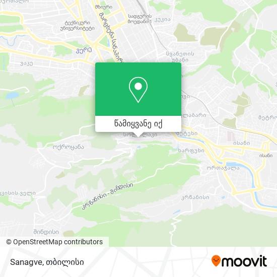Sanagve რუკა