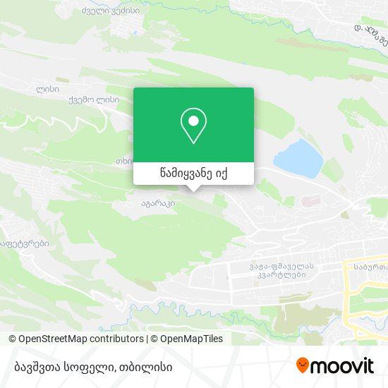 Sos ბავშვთა სოფელი (Sos Children's Village) რუკა