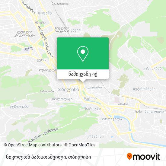 ნიკოლოზ ბარათაშვილი რუკა