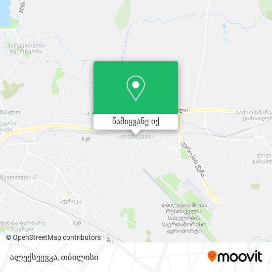 ალექსეევკა რუკა
