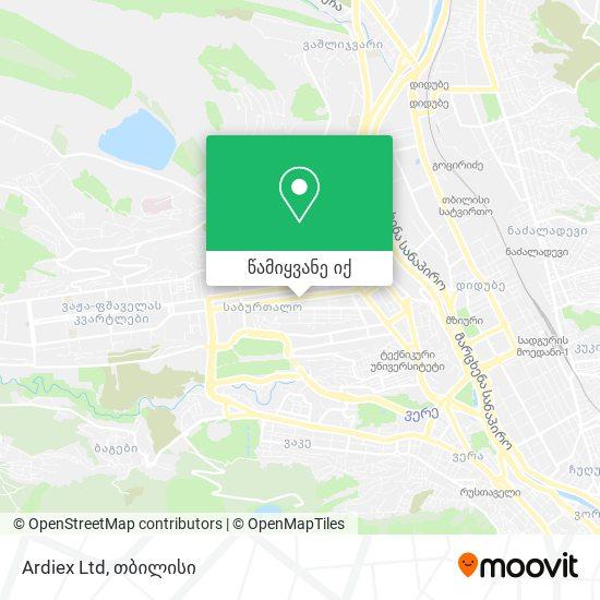 Ardiex Ltd რუკა