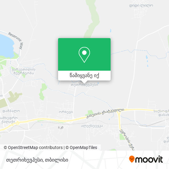 თეთრიხევჰესი რუკა