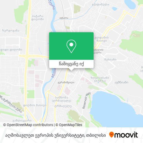 სპორტული კომპლექსი შატილი (Sportuli Kompleksi Shatili) რუკა