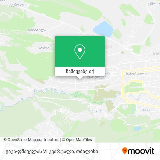 ვაჟა ფშაველას Vi კვარტალი (Vaja Pshavela Block Vi) რუკა