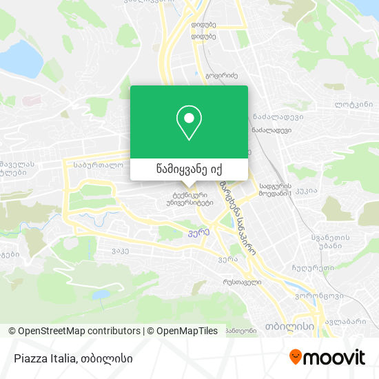 Piazza Italia რუკა