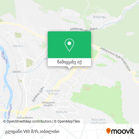 გლდანი 8 მკრ. (Gldani 8) რუკა