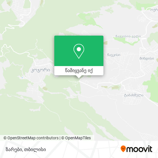 ზარები (Zarebi) რუკა