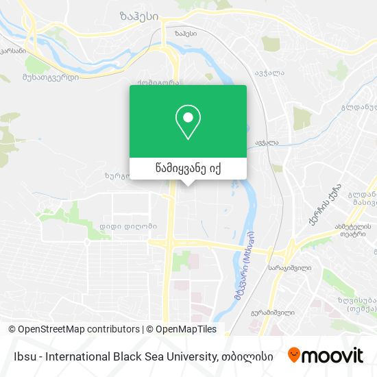 Ibsu - International Black Sea University რუკა