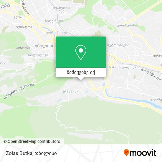 Zoias Butka რუკა
