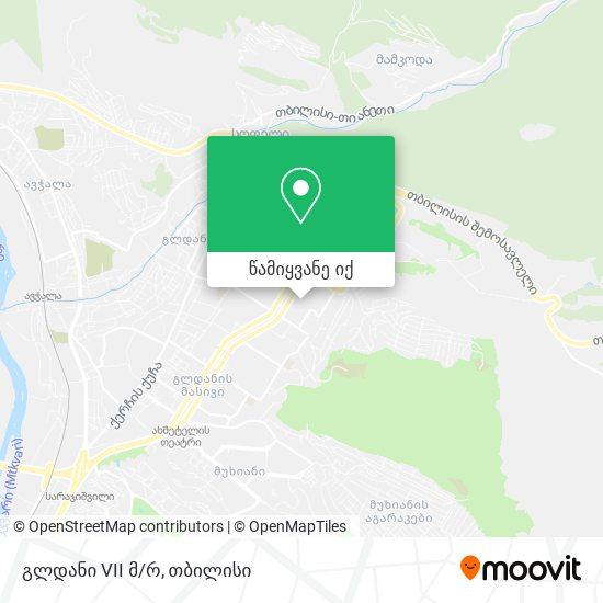 გლდანი 7 მკრ. (Gldani 7) რუკა