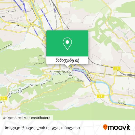 Sofiko Chiaureli რუკა