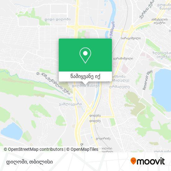 დიღმის მასივი რუკა