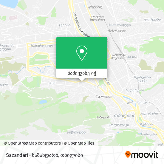Sazandari - საზანდარი რუკა