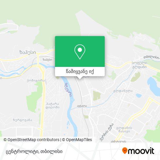 ცენტროლიტი რუკა