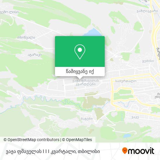 ვაჟა ფშაველას I I I კვარტალი (Vaja Pshavela Block I I I) რუკა