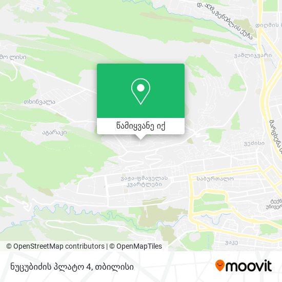 ნუცუბიძის პლატო 4 (Nutsubidze Plateau 4) რუკა
