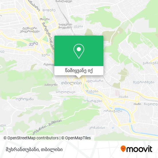 მუხრანთუბანი რუკა