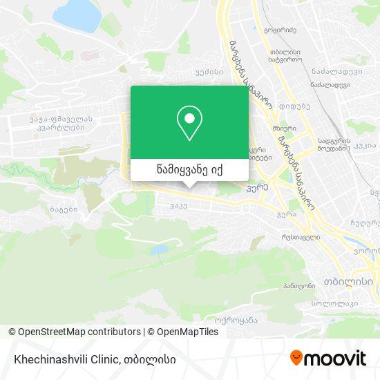 Khechinashvili Clinic რუკა