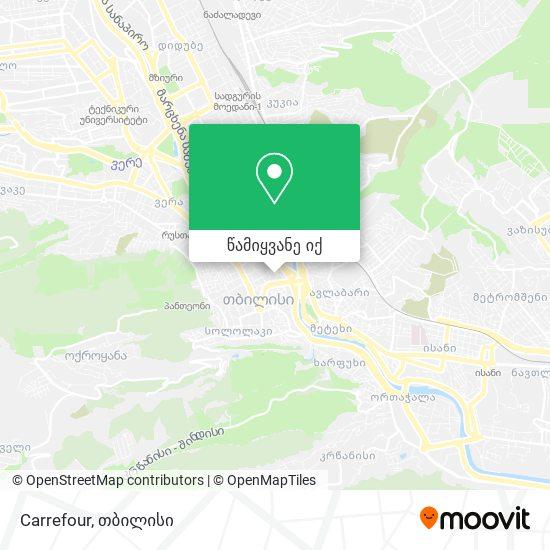 Carrefour რუკა